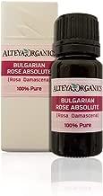 Alteya Organics Bulgarian Rose Absolute (100% PURE Rose Oil) - 10ml, From Rosa Damascena Bulgaria, Authentic, Certified