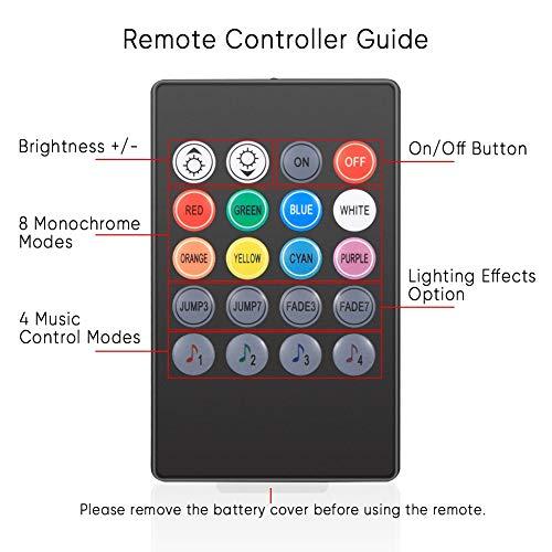 4 pcs Lumières de Bande de Voiture LED, Keenso Eclairage Intérieur LED Décoration Atmosphère pour Voiture Bande de Musique Multi-Couleurs Etanche