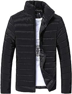 omniscient Men's Packable Stand Collar Lightweight Alternative Down Puffer Jacket Coats