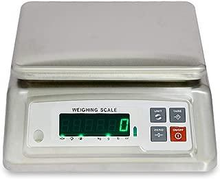 WCX Electrónico Impermeable Balanzas Alta Precisión Acero Inoxidable Industrial Balanza Sobremesa con LCD Monitor (Size : 6kg/1g)