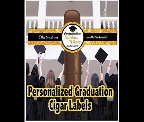 Set of 16 Personalized Graduation Now free shipping Cigar Labels College - 5 ☆ popular L