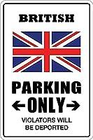 英国の駐車場のみAtive Postブリキ看板ヴィンテージ錫のサイン警告注意サインートポスター安全標識警告装飾金属安全サイン面白いの個性情報サイン金属板鉄の絵表示パネル