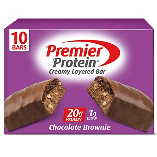 Premier Protein 20g Protein bar, Chocolate Brownie, 2.08 Oz, (10Count)