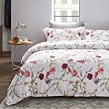 <span class='highlight'><span class='highlight'>Bedsure</span></span> Duvet Cover Set King - Rose Pattern 3 pcs with Zipper Closure 230x220cm with 2 Pillow covers 50x75cm Ultra Soft Hypoallergenic Microfiber Quilt Cover Sets