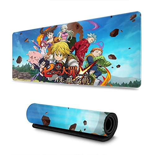 The Seven Deadly Sins Custom Gaming Mouse Pad Anime Mouse Mat Desk Pad 11.8x31.4x0.12inch for Game Players, Office, Study