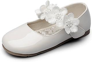 c825e969cc5 Chiximaxu Maxu Kid Girl s Marry Jane Flat Shoes Strap Flower(Toddler Little  ...