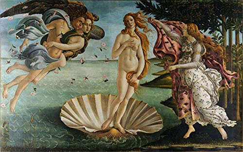 Pintor italiano Sandro Botticelli obra maestra del mundo El nacimiento de Venus 5D DIY Diamante Pintura Set Art Decor Round Full Diamond-Los 70x100CM