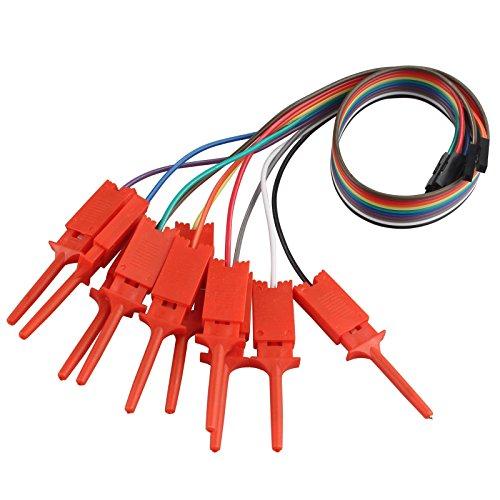 Haljia 10 x Dupontkabel Jumper-Kabel für USB-Logikanalysator, Testhaken, Cliphalter, Schaltdraht und Schnittstellen-Pins