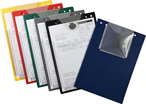 10 Auftragstaschen XXL mit extra großer Dehnfalte für Serviceheft und Bordbücher (blau)