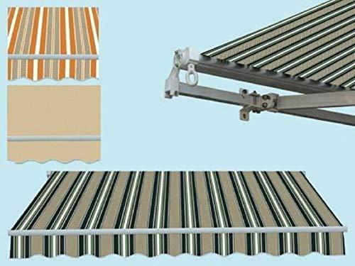Non applicabile Tende da Sole Estensibile a Bracci 295x250cm Giallo Beige con manovella Balcone