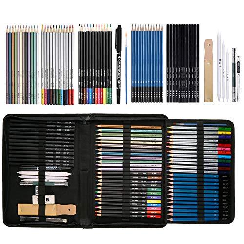 72pcs Color Pencils, Art Coloring Drawing Pencils for Adult Coloring Book,...