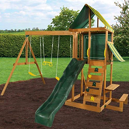 Spring Meadow Wooden Swing Set