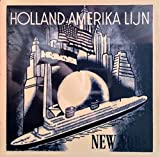 Holland Amerika Lijn 4x4 Inch Delft Tile, New York