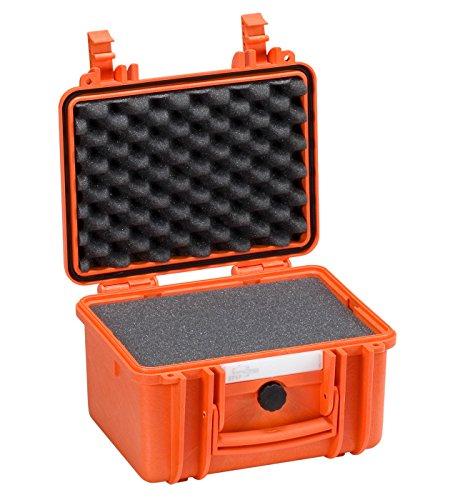 2717 O Valigia protettiva con targhetta identificativa in PVC con spugna colore arancione