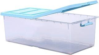Boîte de Rangement vêtement saisonnier sous lit Double-porte En Plastique Boîte De Rangement Sous Le Lit Vêtements Toy Boî...
