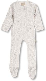 Babyushka Organic Essentials Long Sleeve Zip Baby Jumpsuit, Grey, 0000
