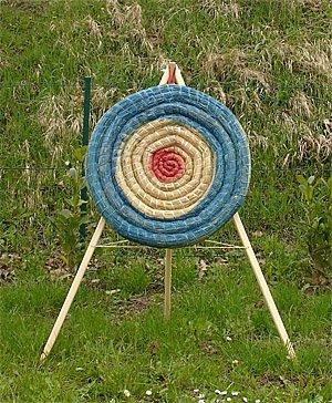 Set Strohzielscheibe 65cm + Ständer (140cm)