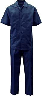STACY ADAMS Men's Solid Linen Set