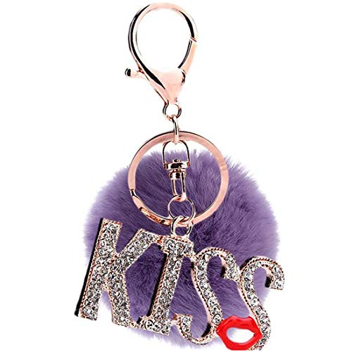 Addfect sleutelhanger pluche bal, mode kiss hanger, zacht keychain handtas hanger, sleutelhanger telefoon decoratie, pluche bol auto sleutelring