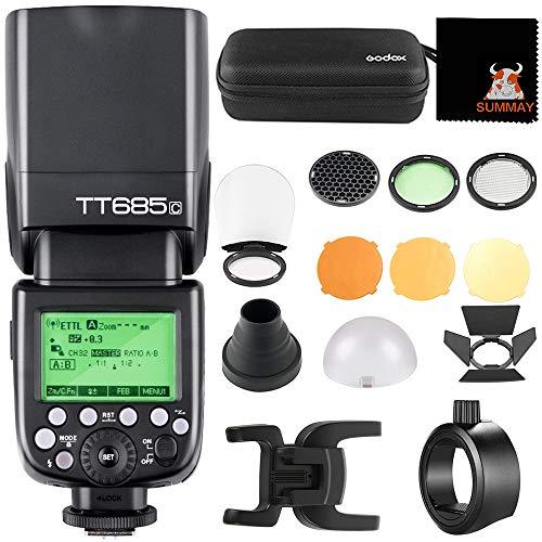 Godox TT685C TTL Speedlit+AK-R1 Ronda Accesorios +S-R1 Adaptador para Canon EOS 5D...