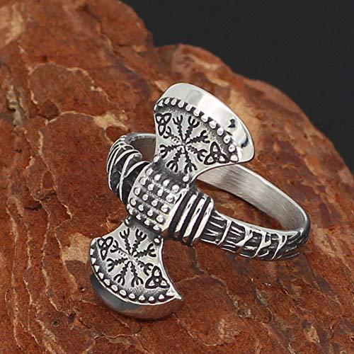 YABEME Norse Mythology Thor Mjolnir Magical Talisman Axe Compass Stainless Steel Vintage Odin Celtic Pagan Valknut Amulet Jewelry,11