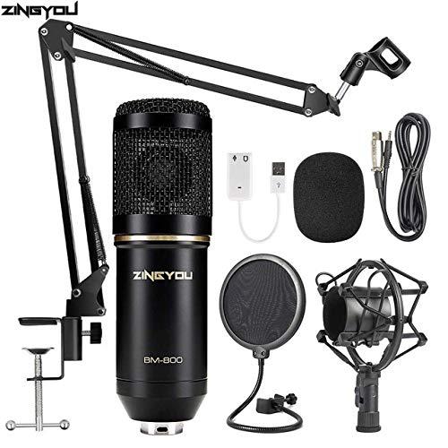 JVCAN BM 800 studiomicrofoon Multifunctionele bekabelde cardioïde microfoon voor geluidsopname Professionele condensator BM800 microfoon