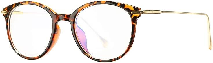 COASION Blue Light Blocking Glasses for Women Vintage Round Anti Blue Ray Computer Game Eyeglasses