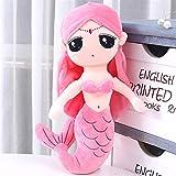 DER Acuario de la Sirena de la Almohadilla de la muñeca de la muñeca de la Sirena Princesa niña muñeca de Juguete de Felpa Regalo Niño Almohada -Lindo Juguete de Peluche (Color : Pink, Size : 50cm)