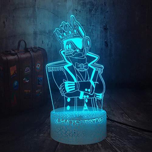 Divertido juego robot creativo lámpara de mesa pequeña LED3D luz visual acrílico decoración creativa regalo multicolor luz nocturna luz de neón