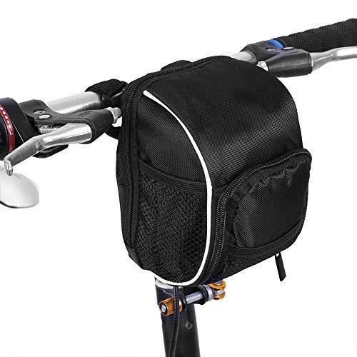 Tbest stuurtassen voor fiets, fiets, multifunctioneel, opvouwbaar, frame voor, buis, tas met snelsluiting, met regenbescherming