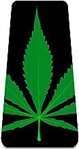 Yoga Mat Antislip TPE marihuana blad laat groen Hoge dichtheid vulling om pijnlijke knieën te voorkomen, Perfect voor yog...