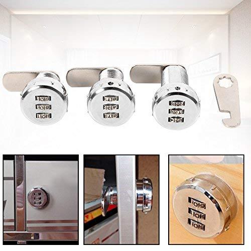 3-stellige Code-Kombination Codeschloss, Kombination Cam Schloss Zink-Legierung Sicherheitsschlössern, für Schrank, Schublade, Briefkasten