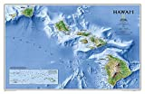 National Geographic: Hawaii Wall Map - Laminated (34.75 x 22.75 inches) (National Geographic Reference Map)