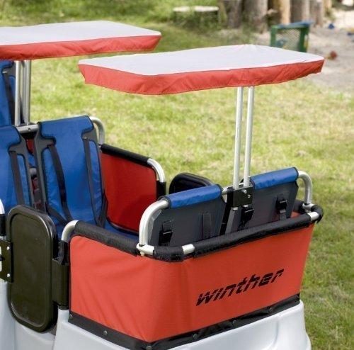 Sonnenschutz für Turtle Kinderbus von Winther, als Zubehör für den 6-Sitzer oder den 4-Sitzer Turtlebus geeignet