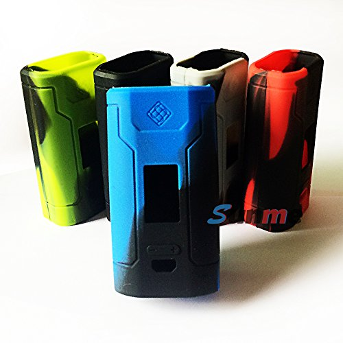 Sunme Protective Silicone Cases Wraps Sleeves for Predator 228W Mod Kit (Blue&Black)