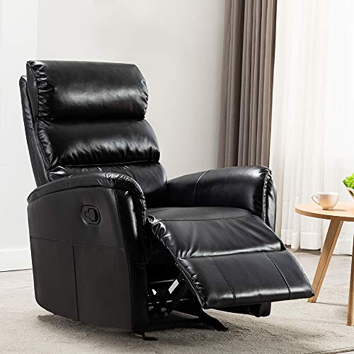 Rocker Recliner Chair, BONZY HOME Manual Reclining Chair Overstuffed Recliner Rocking Chair, Living Room Home Theater Seating with...