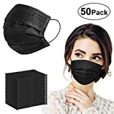 KissDate Lot de 50 masques jetables en gaze respirante Quatre couches Filtre à...