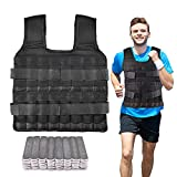 SurmountWay Weighted Vest Adjustable trength Training Weight Jacket 22lbs with Plated Steel Plates (22Lbs)