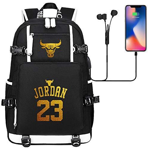 DDDWWW Jugend Casual Daypacks College Basketball Rucksack Schultasche Wandern Rucksack Bulls Michael Jordan L (#01)