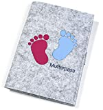 Vitawerks - Funda para cartilla de embarazo, resistente, de fieltro, perfecta y perfecta para la cartilla de maternidad alemana I 13,5 x 19 cm