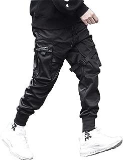 Techwear Matte Black Pants Relaxed Fit Streetwear Joggers