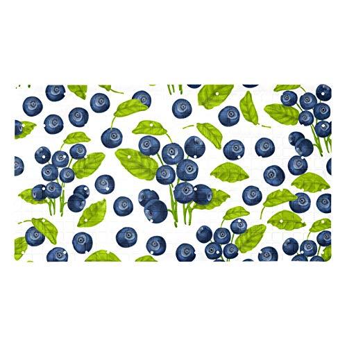 CBH Blueberry Tapis de bain doux sans couture pour baignoires 39,9 x 70,9 cm