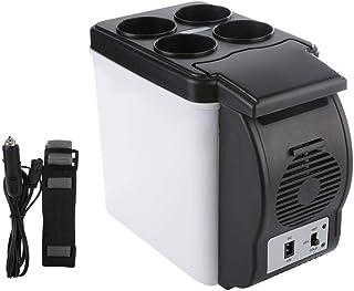 Automotive Mini Refrigerator, Electric Camping Fridge 6L 12V Compact Travel Cooler/Warme Portable Fridge for Car Truck Hom...