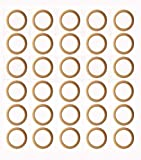 Penta Angel Wooden Rings 30Pcs 35mm Natural Unfinished Solid Wood Rings Smooth Wood Circles for DIY Craft Pendant Connectors Jewelry Making (35mm)