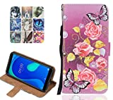 Langlee Compatible with Wiko View4 Case, PU Leather Case,