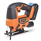 <span class='highlight'><span class='highlight'>VonHaus</span></span> Cordless Jigsaw Saw Tool with 2.0Ah Li-ion 20V MAX Battery, Charger, 4 x T-Shank Blades - Includes 3 Stage Pendulum Action, Tool-Less Blade Change & Dust Extractor Port