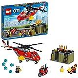 LEGO City - Unidad de Lucha contra Incendios, Set de Construcción con Helicóptero de Bomberos de Juguete (60108)
