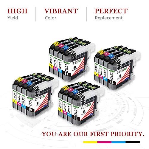 Toner Kingdom Compatible cartuchos de tinta para Brother LC123 123XL para Brother DCP-J132W DCP-J152W DCP-J172W DCP-J4110DW MFC-J4410DW MFC-J4510DW MFC-J4610DW MFC-J470DW MFC-J4710DW DCP-J552DW MFC-J650DW MFC-J6520DW MFC-J6720DW DCP-J752DW MFC-J870D