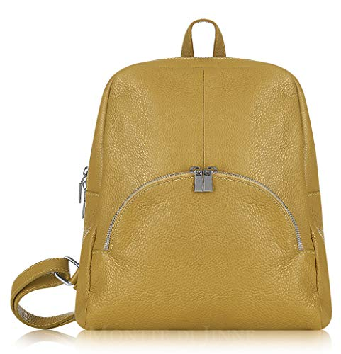 Montte Di Jinne - Italian Leather Backpack - Soft 100% Italian Leather (Mustard)
