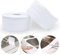 Homipooty PE Bathtub Caulk Strip Kitchen and Bathroom Wall Self Adhesive Waterproof Sealing Tape Sealer,1-1/2
